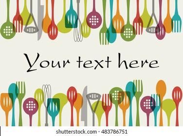 Background - Kitchen utensils set