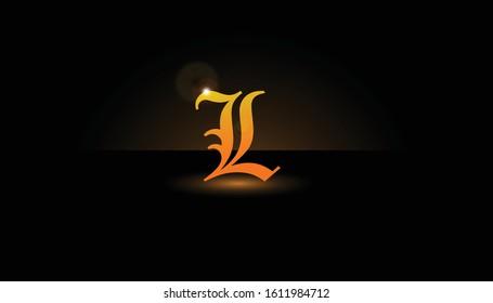 Background L Initial 3D.  The initials L vector.  Initials L for design logos