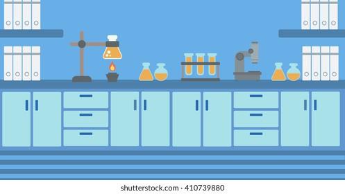 Background of laboratory interior.