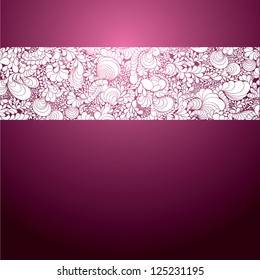 Background with lace ornament. Template frame design for card. Useful for packaging, invitations, decoration, etc