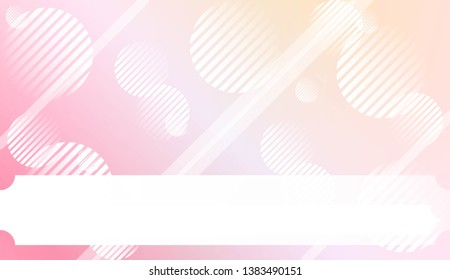 Background with Lines, Circle. For Your Design Ad, Banner, Cover Page. Vector Illustration with Color Gradient