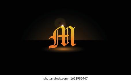 Background M Initial 3D.  The initials M vector.  Initials M for design logos