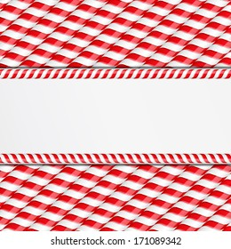 Background made of candy canes with place for your text, vector eps10 illustration
