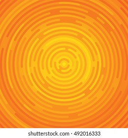 Background made of circles. Victory modern hipster backdrop made of shiny round elements, lines, flat glow. Glowing orange halloween template