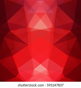 Background made of dark red triangles.  Square composition with geometric shapes. Eps 10