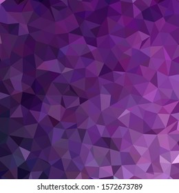 Background made of purple triangles. Square composition with geometric shapes. Eps 10