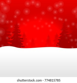 background merry christmas red snow pattern happy new year