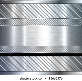 Background metallic, technology design with metal texture, vector illustration.