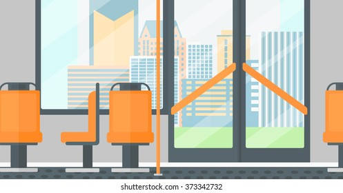 Background of modern empty city bus.