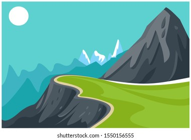 Background Mountain image vector illustration.