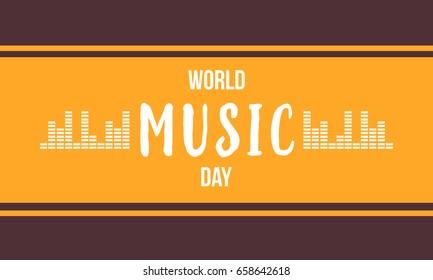 Background of music day celebration