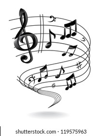 Background with Music Note.