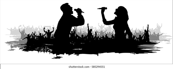Background for music party and concerts.