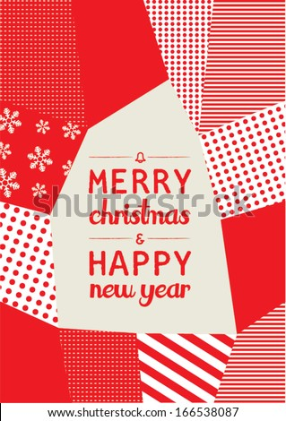 background of new year christmas print vector poster design template layout design