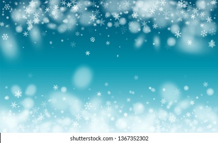 Background for New Year Greetings. Illustration for Happy New Year Design. Isolated Snowflakes Background. Magic Blizzard Illustration Design.