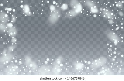 Background for New Year Greetings. Winter Merry Christmas Illustration. Isolated Snowflakes Background. Fantasy  Snowstorm Illustration Design.