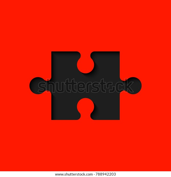Background One Piece Puzzle Pattern Abstrect Stock Vector