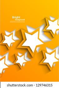 Background with orange stars