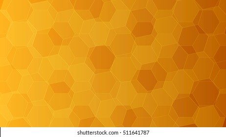 Background with orange and yellow honeycombs. Elements for your design vector illustration