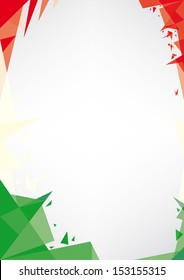 background origami of Italy.  a design background (Origami style) for a very nice poster