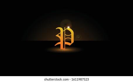 Background P Initial 3D.  The initials P vector.  Initials P for design logos