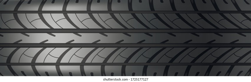 Background panorama car tire protector