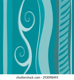 Background pattern, blue waves