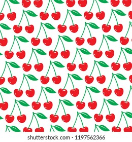 background pattern with cherry