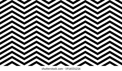 Background pattern for children's clothes, fabrics and web pages. Black and white vector lines formed in a zigzag shape