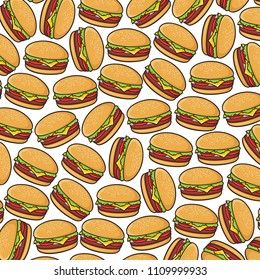 background pattern with hamburger