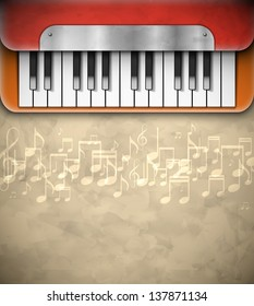 Background with piano. Eps 10