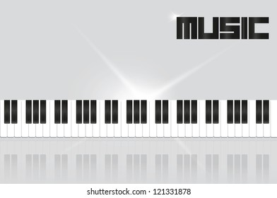 background with piano keys in shades of gray