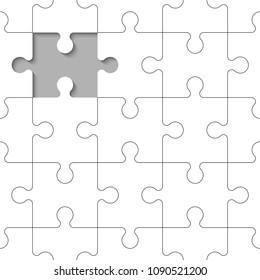 Background piece puzzle paper cut pattern. Abstrect puzzles picture. Simple piece puzzle wallpaper template. Vector paper cut banner presentation picture.