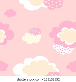 background with pink clouds