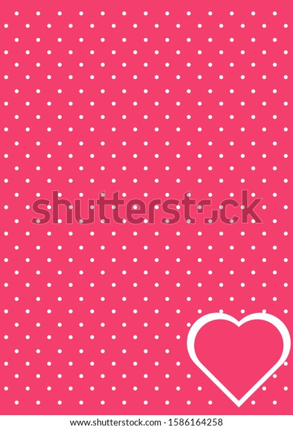 background pink polkadot love romance stock vector royalty free 1586164258 https www shutterstock com image vector background pink polkadot love romance 1586164258
