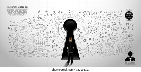 Background Plan Business - modern Idea and Concept Vector illustration Business  with  icon.
