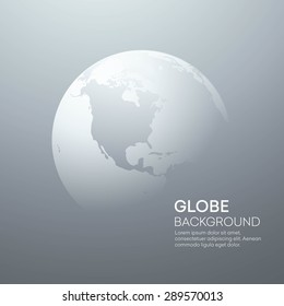 Background with Planet Earth Globe. Vector Illustration EPS 10