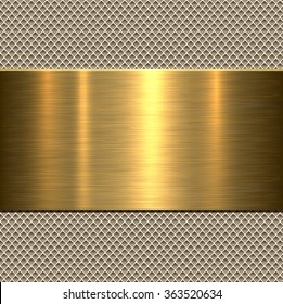 Background, polished metal texture, vector.