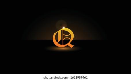 Background Q Initial 3D.  The initials Q vector.  Initials Q for design logos