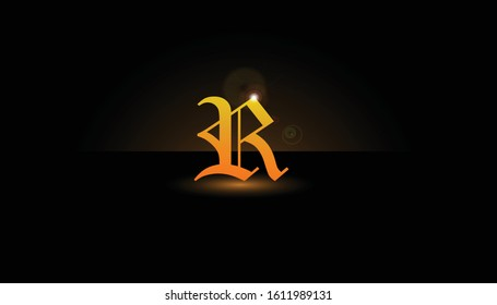 Background R Initial 3D.  The initials R vector.  Initials R for design logos