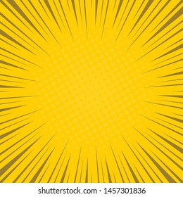 Background of radial speed lines for comic books. vector illustration