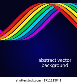 The background of the rainbow lines. Vector illustration for your business presentations.