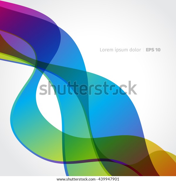 Background Rainbow Vector Wave Colored Smoke Stock