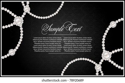 background with realistic vector pearls