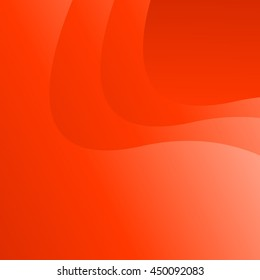 The background is red, fiery waves. Vector image