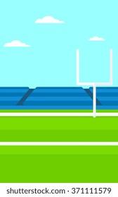 Background of rugby stadium.