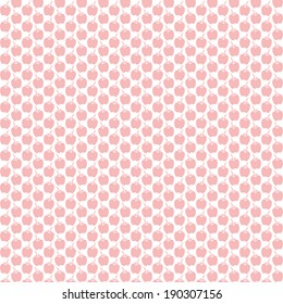 Background of seamless apple pattern