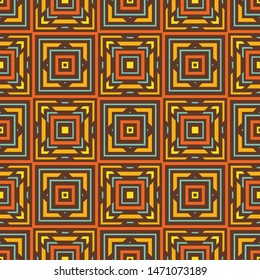 Background seamless pattern. Abstrat carpet ethnic ornament. Exotic boho style. Vector illustration. Graphic design.