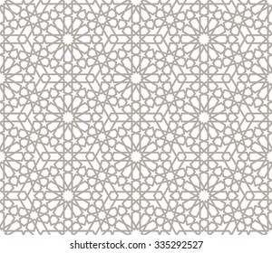 Background with seamless pattern in arabic style