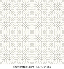 Background seamless pattern based on traditional islamic art.Brown color.Great design for fabric,textile,cover,wrapping paper,background.Fine lines.